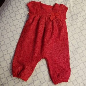 Cat and Jack red dressy jumper 3-6 mo